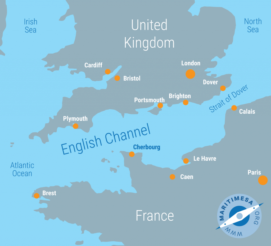 where does the north sea and english channel meet